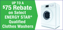 Clothes Washer Rebate